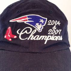 Red Sox New England Patriots 2004 2007 Champions Cap Hat Harvard Square   NFLTeamApparel  NewEnglandPatriots b798c018bbd3