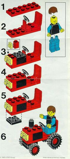 Lego truck for party bags
