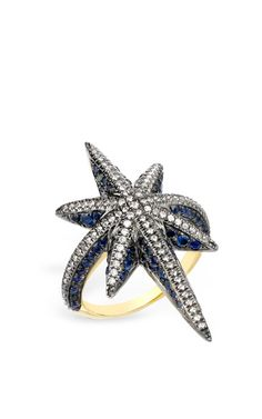 Blue Venyx Star Ring by Venyx for Preorder on Moda Operandi