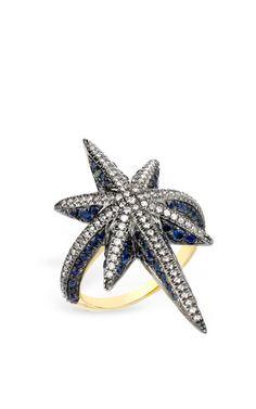 Blue Venyx Star Ring by Venyx for Preorder on Moda Operandi