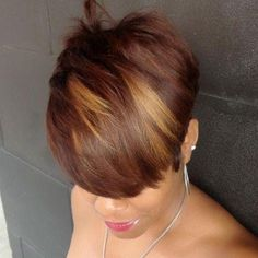 Love her hair color! Love Hair, Great Hair, Gorgeous Hair, My Hairstyle, Girl Hairstyles, Short Black Hairstyles, Short Hair Cuts, Short Hair Styles, Pixie Styles
