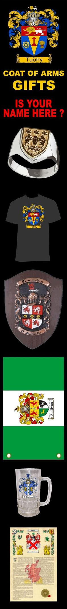 Our coat of arms / family crest store features, flags, rings, plaques, throws, engraved glassware, printed steins, mugs, jewelry, shields, key rings, scrolls, prints, and much more