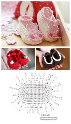 80 Patrones Para Hacer Zapatitos, Botines Y Zapatillas De Bebés En Crochet (Free Patterns Crochet Sandals Babies) - Diy Crafts Booties Crochet, Crochet Baby Sandals, Crochet Shoes, Crochet Slippers, Love Crochet, Crochet For Kids, Crochet Chart, Crochet Patterns, Diy Crafts Crochet