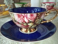 Shelley Satin teacup in navy