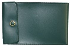 """Dark Green Vinyl Checkbook Cover for End-Stub Wallet Checks by End Stub Checks. $0.51. This cover comes in Dark Green and holds the end-stub personal size checks. A brass colored snap will allow you to fold your checks and keep them secure as you place them your pocket or purse. Folded and snapped, the size of this cover is 4 7/8"""" x 3 1/8"""" (open 10 7/8"""" x 3 1/8""""). This cover will hold the end-stub personal size check (6"""" x 2.75"""") with a stub up to 2.5"""" wide. Made ..."""