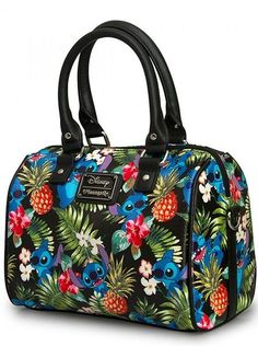 Buy Stitch Hawaiian Print Hand Bag at Mighty Ape Australia. Loungefly Disney Stitch Hawaiian Print Hand Bag This faux leather duffle features Loungefly's classic print pebble, rolled handles, and adjustable, d. Disney Stich, Lilo Und Stitch, Disney Brands, Disney Products, Disney Purse, Cute Stitch, Hawaiian Print, Disney Outfits, Disney Clothes
