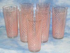 Six Gun Annie pink glasses Vintage Dishes, Vintage Glassware, Vintage Kitchen, Vintage Love, Vintage Pink, Vintage Style, Vintage Cocktails, Pink Dishes, Cool Glasses