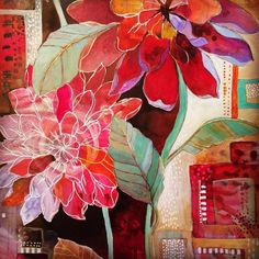 Collage Techniques, Arte Floral, Abstract Flowers, Oeuvre D'art, Painting Inspiration, Collage Art, Bunt, Flower Art, Watercolor Art