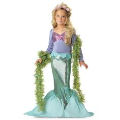 California Costumes Toys Little Mermaid Costume -- Kids Dressing Up & Costumes New Releases 24 Hour Deals Buy Five Star Products With Up To Discount Mermaid Halloween Costumes, Ariel Costumes, Hallowen Costume, Dress Up Costumes, Halloween Costumes For Girls, Halloween Kostüm, Costumes Kids, Cosplay Costumes, Party