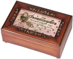 Jewelry Music Boxes - Granddaughter Music Box -- Continue to the product at the image link.