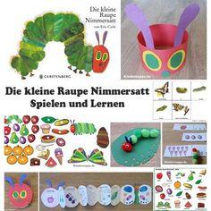 Die kleine Raupe Nimmersatt Basteln und Spiele fur Kindergarten und Kita