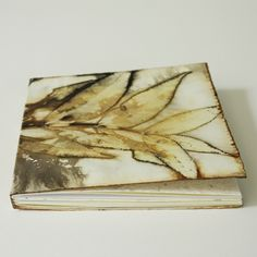 Image of pecan eco printed mini notebook