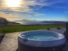 View from Locholly Lodge hot tub