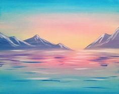 Check out Morning Light at The Cheesecake Cafe Spruce Grove - Paint Nite Event Painting & Drawing, Watercolor Paintings, Oil Pastel Art, Beautiful Nature Wallpaper, Spray Paint Art, Beginner Painting, Painting Inspiration, Landscape Paintings, Art Drawings