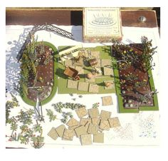 Manufactured by Britains from 1930 - Miniature Gardens, Garden Toys, Old Toys, Vintage Toys, Childhood Memories, Britain, Vintage World Maps, Miniatures, Models