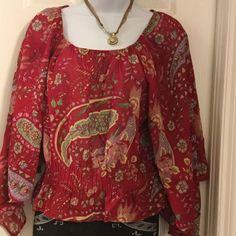 Barfani chiffon blouse 100% polyester 'gathered bottom blouse Barfani Tops Blouses