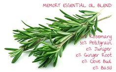 Memory - rosemary, petitgrain, juniper berry, ginger, clove and basil