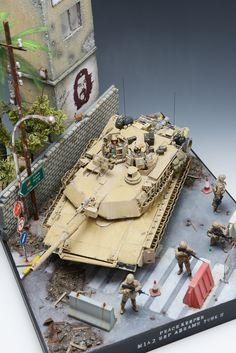 M1A2 Abrams Tusk II 1/35 Scale Model Diorama