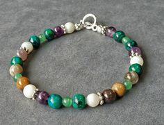 Multi-gemstone beaded bracelet stackable by ButterflyWarriors