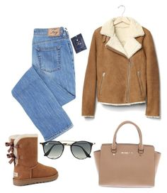 """""""Untitled #115"""" by maniakozlowska on Polyvore featuring Gap, UGG, Michael Kors and Ray-Ban"""