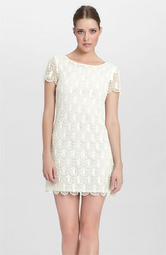 Cynthia Steffe 'Reese' Crochet Lace Shift Dress | Nordstrom... got to see if it comes in another color...