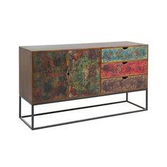 Sideboard Beech wood Iron (160 x 45 x 90 cm)
