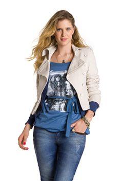 Hering Inverno - jaqueta com manga 3/4 + blusa por baixo
