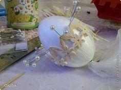 Пасхальное яйцо из бумаги, яйцо фаберже в технике квиллинг. фото 5