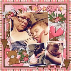 Layout using {Sweet Dreams-Girl} Digital Scrapbook Collection by Day Dreams'N Designs available at Scraps-N-Pieces http://www.scraps-n-pieces.com/store/index.php?main_page=index&manufacturers_id=83 #daydreamsndesigns