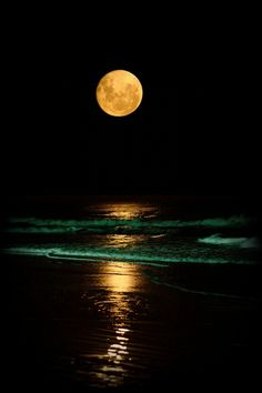 "Full moon over the shore - Baja, Malibu ""San Antonio del Mar"" by Carlos Reyna Rosarito, Baja California, Mexico"