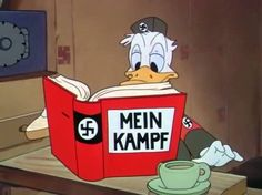 """""""Am I glad to be a citizen of the United States of America!"""" - Donald Duck - Der Fuehrer's Face: www.youtube.com/watch?v=oLV5GCbsRTY"""
