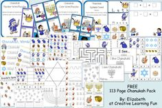 FREE Chanukah Printable Pack - Pinned by @PediaStaff – Please Visit http://ht.ly/63sNt for all our pediatric therapy pins