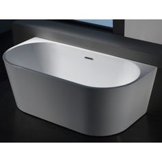 Halo Freestanding Back to Wall Bath - Bathware Direct