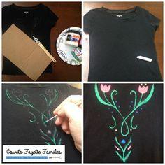 ANNA Costume T-SHIRT Painting tutorial