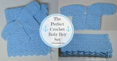 Free crochet patterns for babies Free baby set crochet pattern Newborn crochet baby set blanket and cardigan
