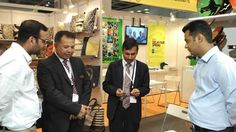 Shri Puneet Agarwal, Consul General, Consulate General of India at Hong Kong interacted with the participants in the Indian Pavilion at Asian Gifts and Premium Show, 2016. — in Hong Kong. #epchindia
