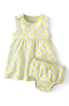 Mini Boden Essential Spotty Jersey Dress (Baby Girls)