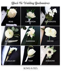 We rounded up the best ideas for boutonnieres by flowers, wedding styles and seasons. Flower Bouquet Wedding, Floral Wedding, Fall Wedding, Wedding Colors, Wedding Styles, Our Wedding, Dream Wedding, Wedding Ideas, Black And White Wedding Theme