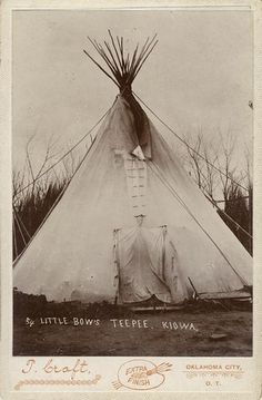 Kiowa Indian Tepee by Wisconsin Historical Images, via Flickr
