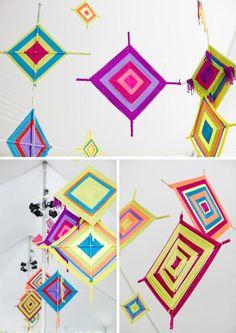 Kids Camp Crafts - God's Eyes via Honesttonod.com