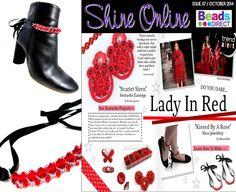 Press coverage Beads Direct Shine Online Magazine, Oct 2014 edition.
