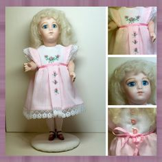 My little Bru, 71/2 inches.  Dress made by me, cotton batiste