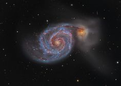 Behold M51, the Whirlpool Galaxy, astrophotography by Martin Pugh. (NASA)