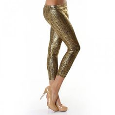 Lixano Leggings mit Goldprint