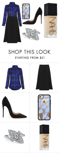 """""""Sans titre #3826"""" by yldr-merve ❤ liked on Polyvore featuring Rails, WearAll, Christian Louboutin, Casetify and NARS Cosmetics"""
