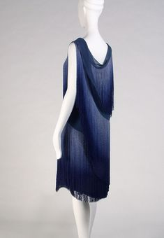 dress with fringe and chiffon | Coco Chanel | 1920s