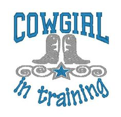 Custom Embroidered Burp Cloth - Cowgirl In Training