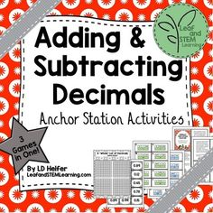 LeafandSTEMLearning  from  Adding and Subtracting Decimals Math Centers on…