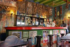 A very cool little bar in Camaguey, Cuba