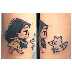na piccola Pocahontas ❤ grazie Vane ! Small Quote Tattoos, Small Tattoos With Meaning, Cartoon Tattoos, Sister Tattoos, Disney Tattoos Pocahontas, Disney Inspired Tattoos, Tattoo Disney, Small Shoulder Tattoos, Small Wrist Tattoos